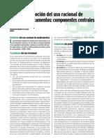 OMS- Promoción del uso racional de medicamentos- componentes centrales