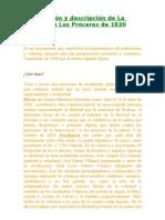 Observación y descripción de La Columna A Los Próceres de 1820