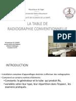 5- LA TABLE  DE RADIOGRAPHIE CONVENTIONNELLE - TSR 1
