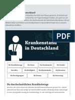 Krankenstand in Deutschland - iwd.de