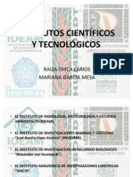 INSTITUTOS CIENTIFICOS Y TECNOLOGICOS