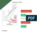 Les 150 Psaumes de David Télécharger, Lire PDF Télécharger Lire English Version Download Read. Description