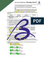 13. práctica - de los determinantes y la preposición