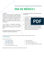 Guía de estudio Tercer Parcial Historia de México I