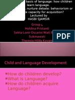 HASBI SJAMSIR, how children learn language.