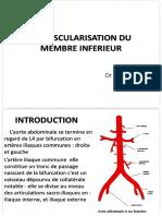 Vascularisation Arterielle Membre Inf.