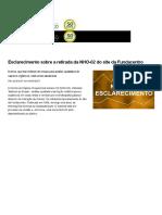 NHO 02 - Esclarecimento Sobre a Retirada Da Do Site Da Fundacentro - Notícias - Fundacentro-PDF