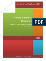 Edexcel A2 Unit 4a - Making Business Decisions