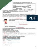 Lengua Castellana 2 Entrega 4 Grado 2021