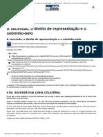 HERANÇA FILHOS DO IRMÃO FALECIDO REPRESENTAM O SEU JOÃO
