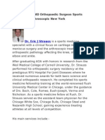 Eric J Strauss MD Orthopaedic Surgeon - Sports Medicine & Arthroscopic, New York
