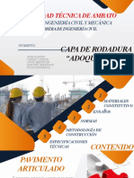 CAPA DE RODADURA ADOQUINES