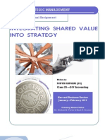 Integrating Shared Value Into Strategy (An Analysis)