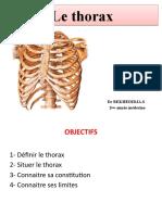 1- le thorax