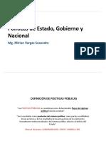 1. Politicas de estado, nacional y gobierno