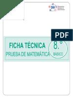 Ficha Tecnica Prueba Matematica 8 BASICO