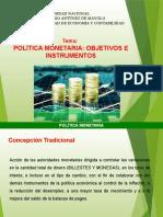 Política monetaria e instrumentos