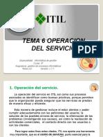 TEMA 6 OPERACION DEL SERVICIO ITIL