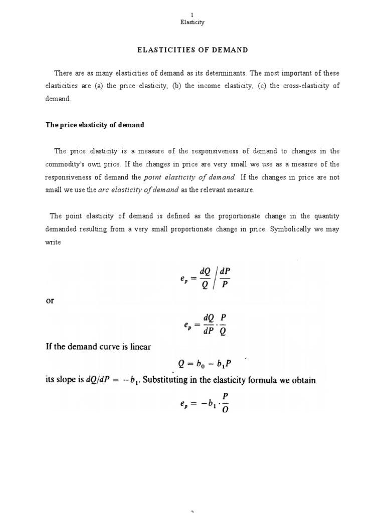 Elasticity Price Elasticity Of Demand Demand Curve