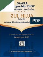 Zul Hijja - Actes de Devotion, Prières & Invocation - Daara Serigne Mor Diop