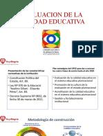 EVALUACION DE LA CALIDAD EDUCATIVA