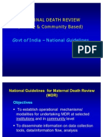 Maternal Death Review GOI Guidelines_WB_2011
