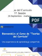1a. Sesión Teorías del Currículo