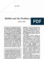 Babbitt and the Problem of Reality