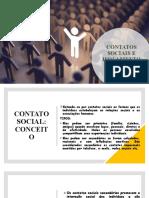 CONTATOS SOCIAIS E ISOLAMENTO SOCIAL