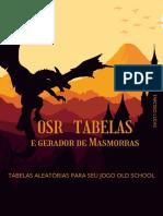OSR TABELAS E Gerador de Masmorras