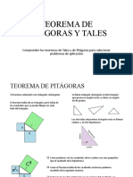 TEOREMA DE PITÁGORAS Y TALES