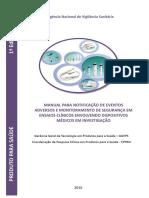 Manual Para Notificação de Eventos Adversos e Monitoramento de Segurança Em Ensaios Clínicos Envolvendo Dispositivos Médicos Em Investigação