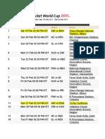 W C Schedules