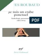 Je suis un crabe ponctuel - Jacques Roubaud