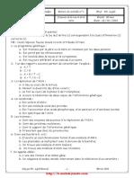 Devoir de contrôle N°2 - SVT - 3ème Sc exp (2009-2010)