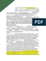 Formato Contrato de Promesa de Compraventa y Escritura Vivienda 14 Entre Los Suscritos a Saber