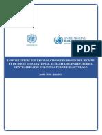 Report Abuses Violations HR InternationalHumanitarianLaw Elections CAR