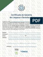 Certificado de Limpeza e Higienizacao 1