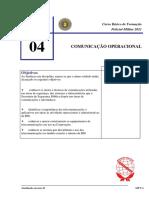 04. CADERNO TEMÁTICO  -  COMUNICAÇÃO OPERACIONAL (CBFPM 2020)
