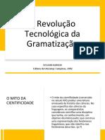 A Revolucção Tecnologica Da Gramatização Sides