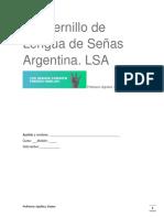 Cuadernillo de Lengua de Señas Argentina