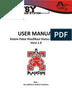 User Manual - Sistem Pakar Gizi dan Diagnosis V1.0