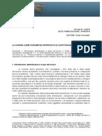 Carlo Casonato. La scienza come parametro interposto di costituzionalità