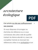 Architecture écologique — Wikipédia
