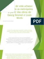 A metrópole Simmel 1