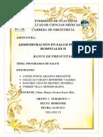 ADMINISTRACIÓN - GRUPO 1 - SUBGRUPO 5 PREGUNTAS - PROGRAMAS DE SALUD(1)
