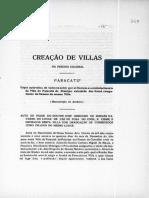 Criação de vilas no período colonial - Paracatu