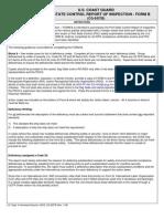 Port State Control Form B CG-5437B