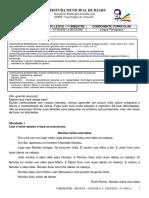 1º BIMESTRE - BLOCO1- 01-03-2021 A 26-03-2021 - 4° ANO A