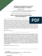 Aspecte clinico-lezionale, culturale şi microscopice în dermatofitozele animalelor de companie